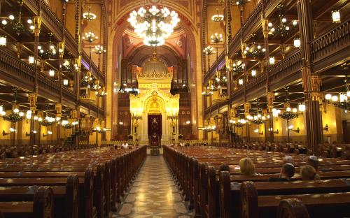 Budapest Synagogue from the inside